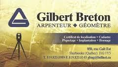Gilbert Breton arpenteur géomètre